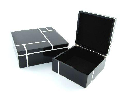 Black And White Decorative Boxes Instyledecor Luxury Black Home Decor Decorative Home Decor