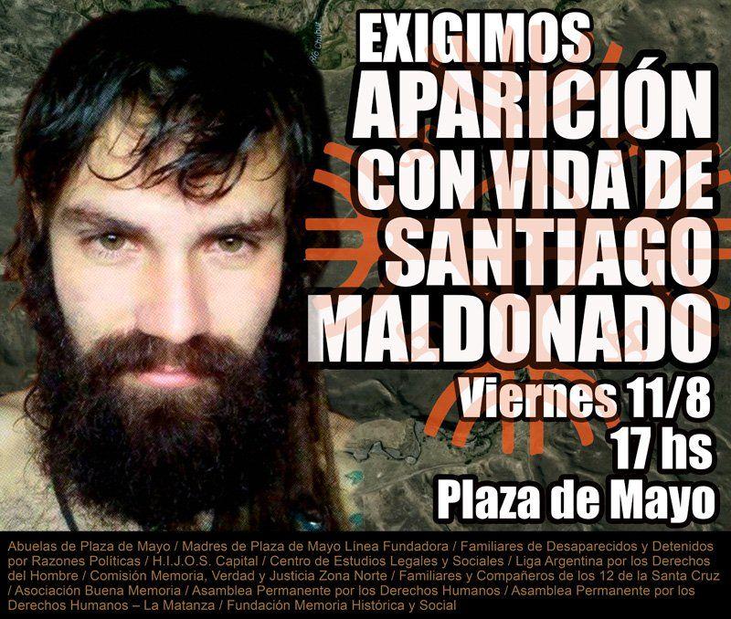 Convocamos a una concentración el viernes 11 de agosto, a las 17, en Plaza de Mayo. #SantiagoMaldonado #AparicionconvidadeSantiagoMaldonado #represionenArgentina #Nuncamas