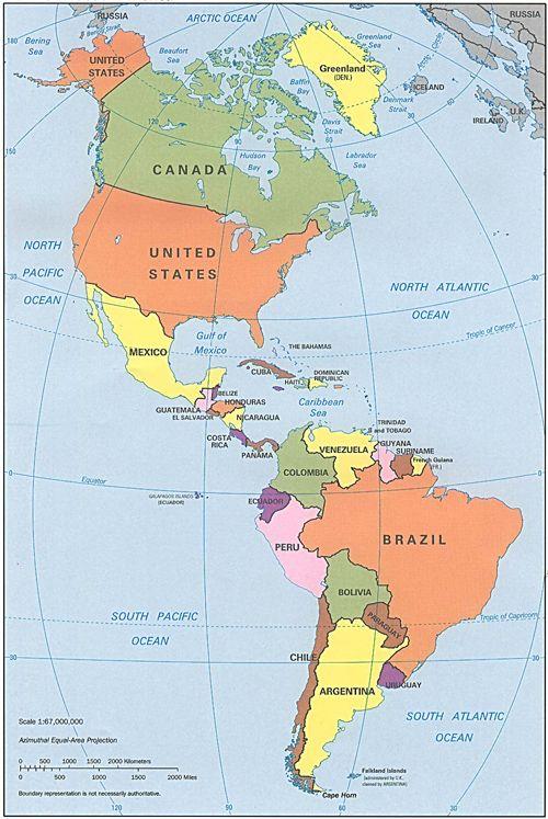 Cartes Et Information Sur L Amerique Amerique Du Nord Du Sud Et