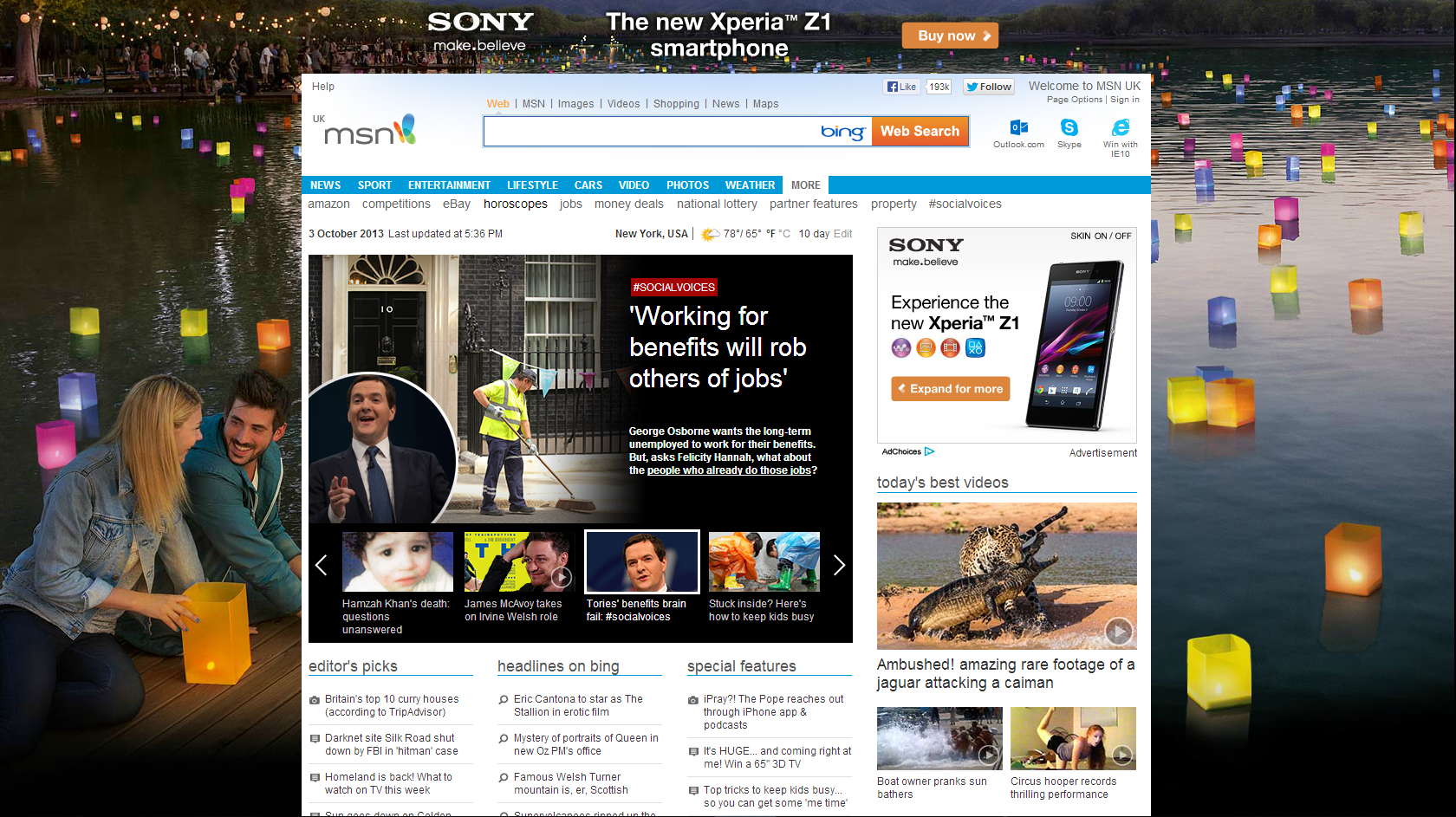 Outlook.com formerly Hotmail, Skype, Bing and Latest News | Hotmail ...
