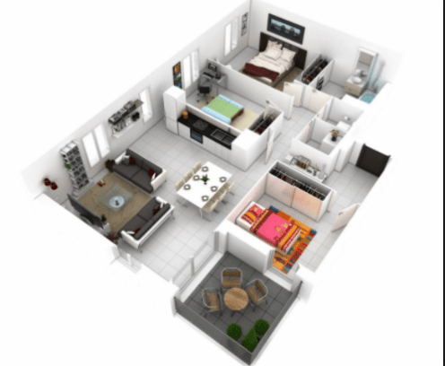 100 Contoh Gambar Denah Rumah Modern Minimalis Denah Rumah Desain Rumah Denah Rumah Modern