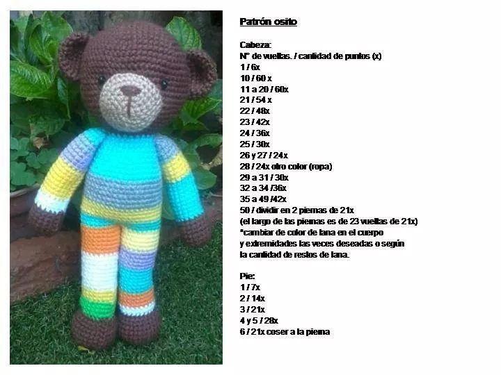 Osito amigurumi patron 1 | hračky | Pinterest
