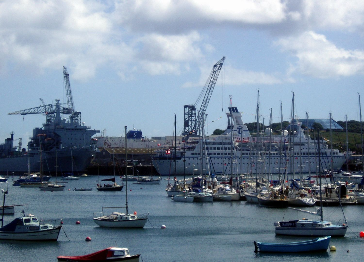 Falmouth Docks, Cornwall, England, one of the largest natural harbors in the world.