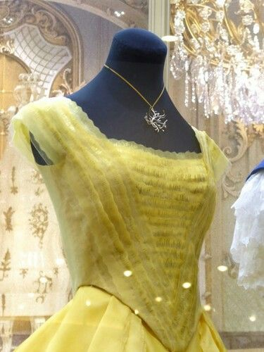 Details Of Belles Ballgown From Disneys Upcoming Live Action Beauty And The Beast