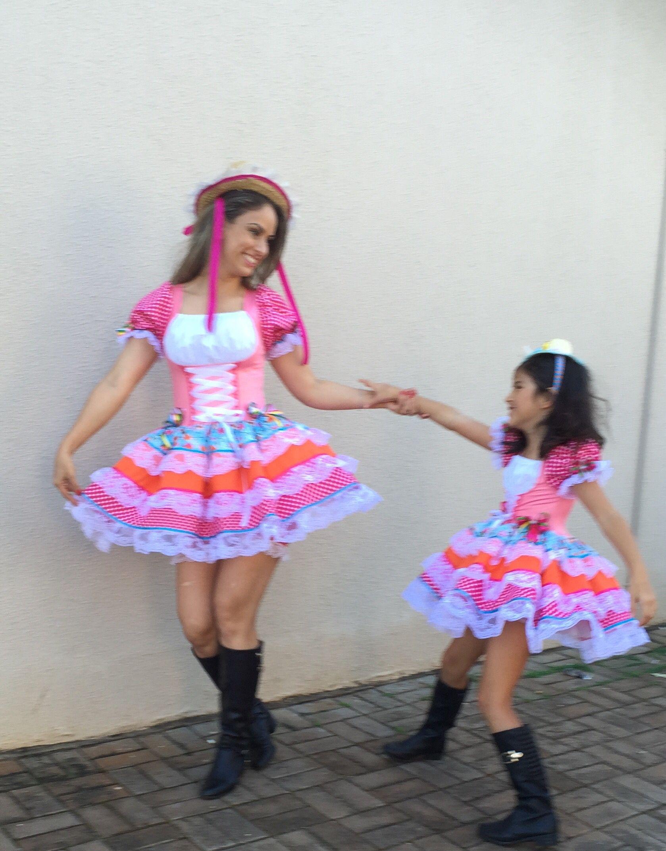 Vestido Junino Mãe E Filha Dalili Store Baby 45 35244577 Ou