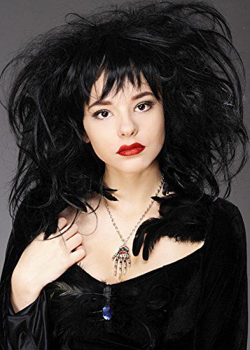 Deluxe Womens Gothic Vampire Black Back Combed Wig Magicbox