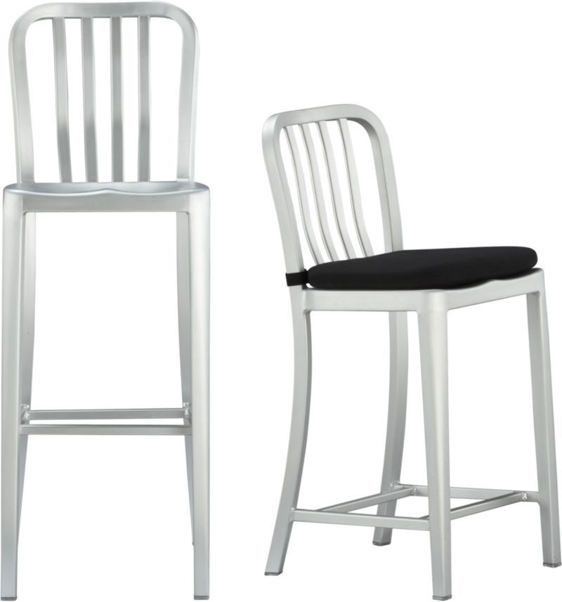 Delta Aluminum Bar Stools And Cushion Crate And Barrel Aluminum Bar Stools Dining Chairs Kitchen Chairs