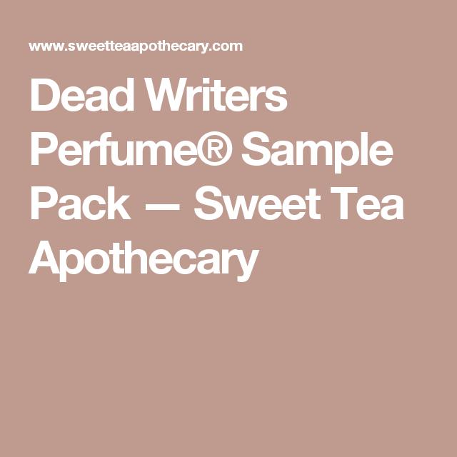 Dead Writers Perfume® Sample Pack — Sweet Tea Apothecary