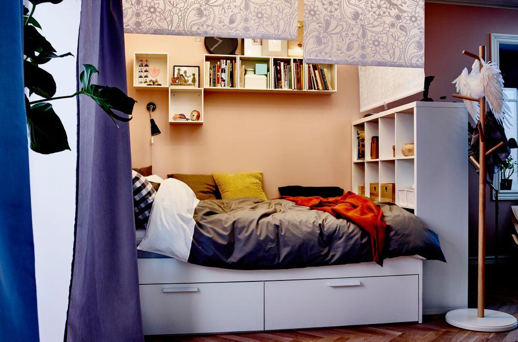 Pin von Maggie auf Ikea Chic Pinterest einfaches Schlafzimmer - ideen fr kleine schlafzimmer ikea