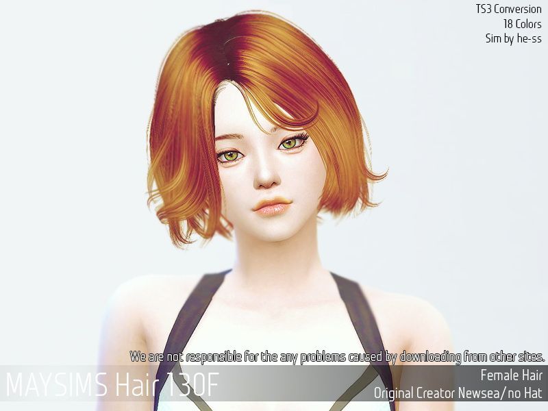May Sims May Hair 130f Custom Content More Sims Pinterest