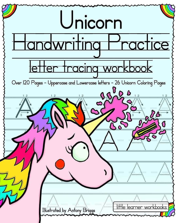 Unicorn Handwriting Practice Book