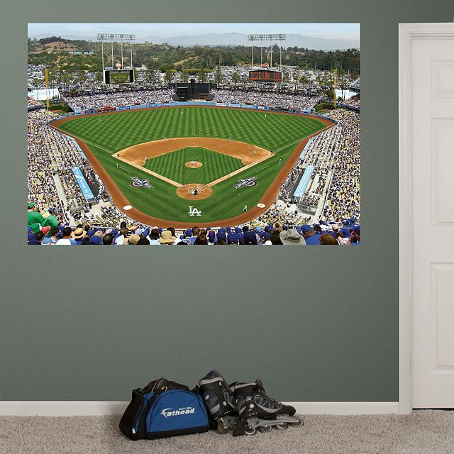 Inside Dodger Stadium Mural | Los Angeles Dodgers Wall Decal | Sports Décor  | Baseball Bedroom Part 96