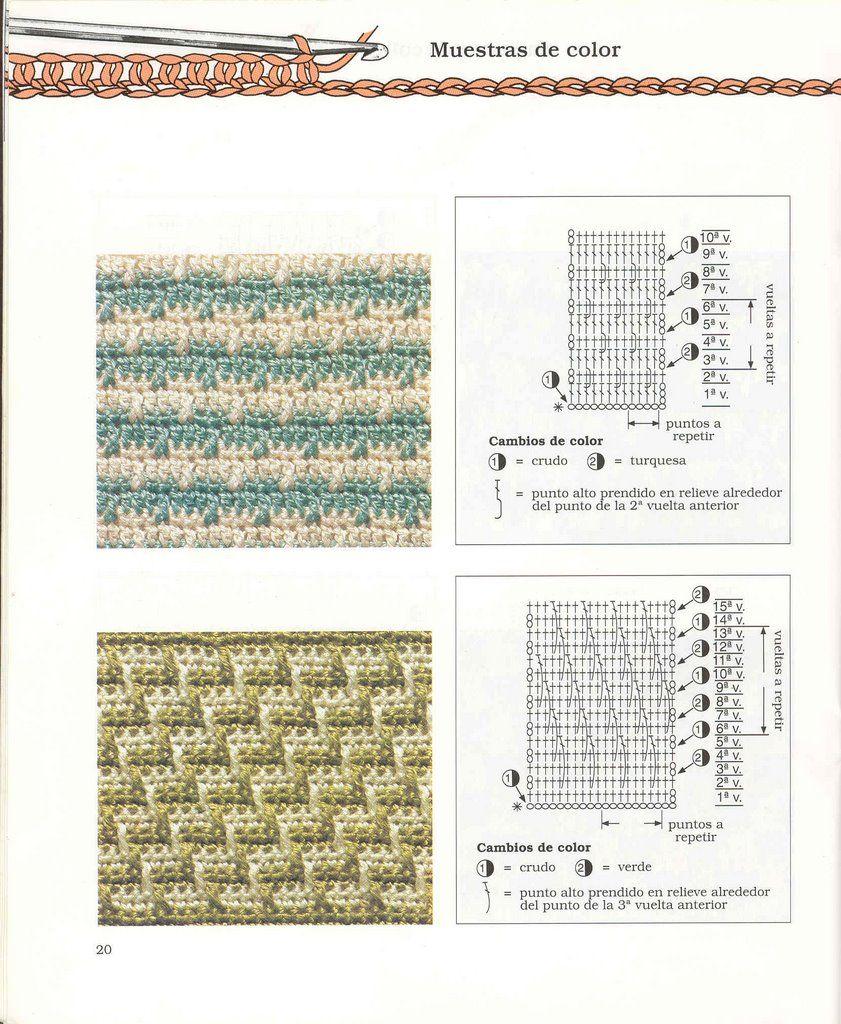 Puntos Diagramas Esquemas Patrones Crochet Ganchillo | Crochet ...