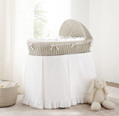 RH Baby U0026 Childu0027s Frayed Ruffle Bassinet Bedding:Unfinished Edges Lend A  Well Worn