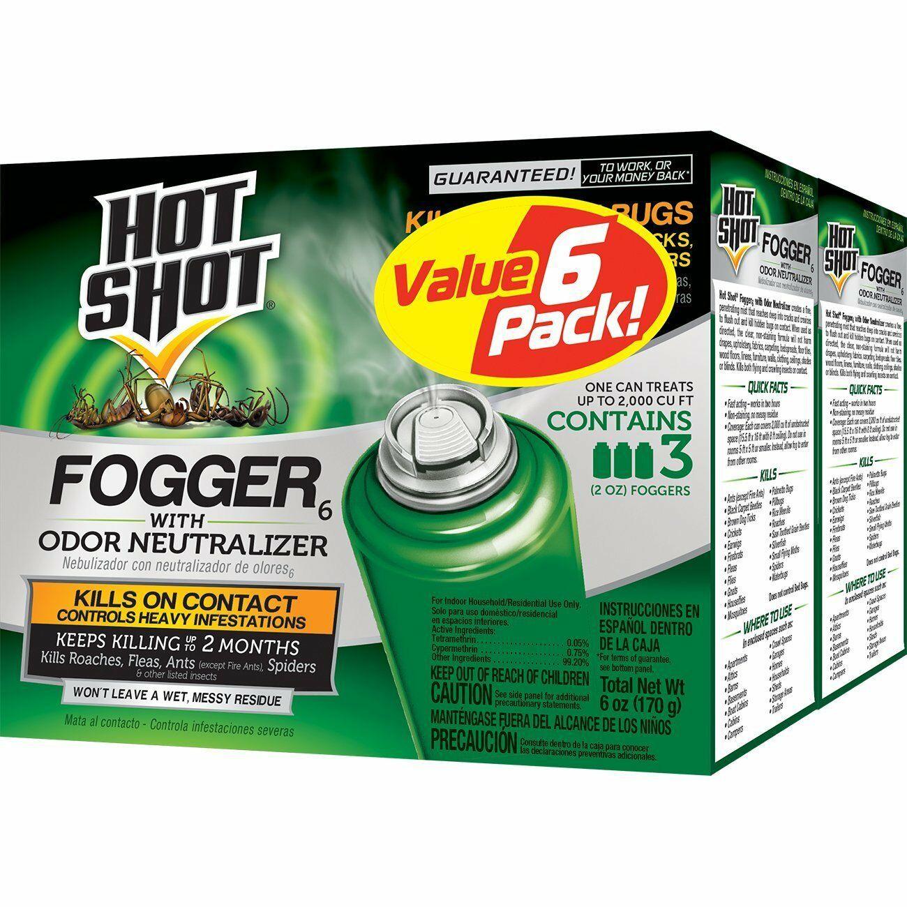 Hot Shot Fogger6 With Odor Neutralizer HG26180 2 Pack 3