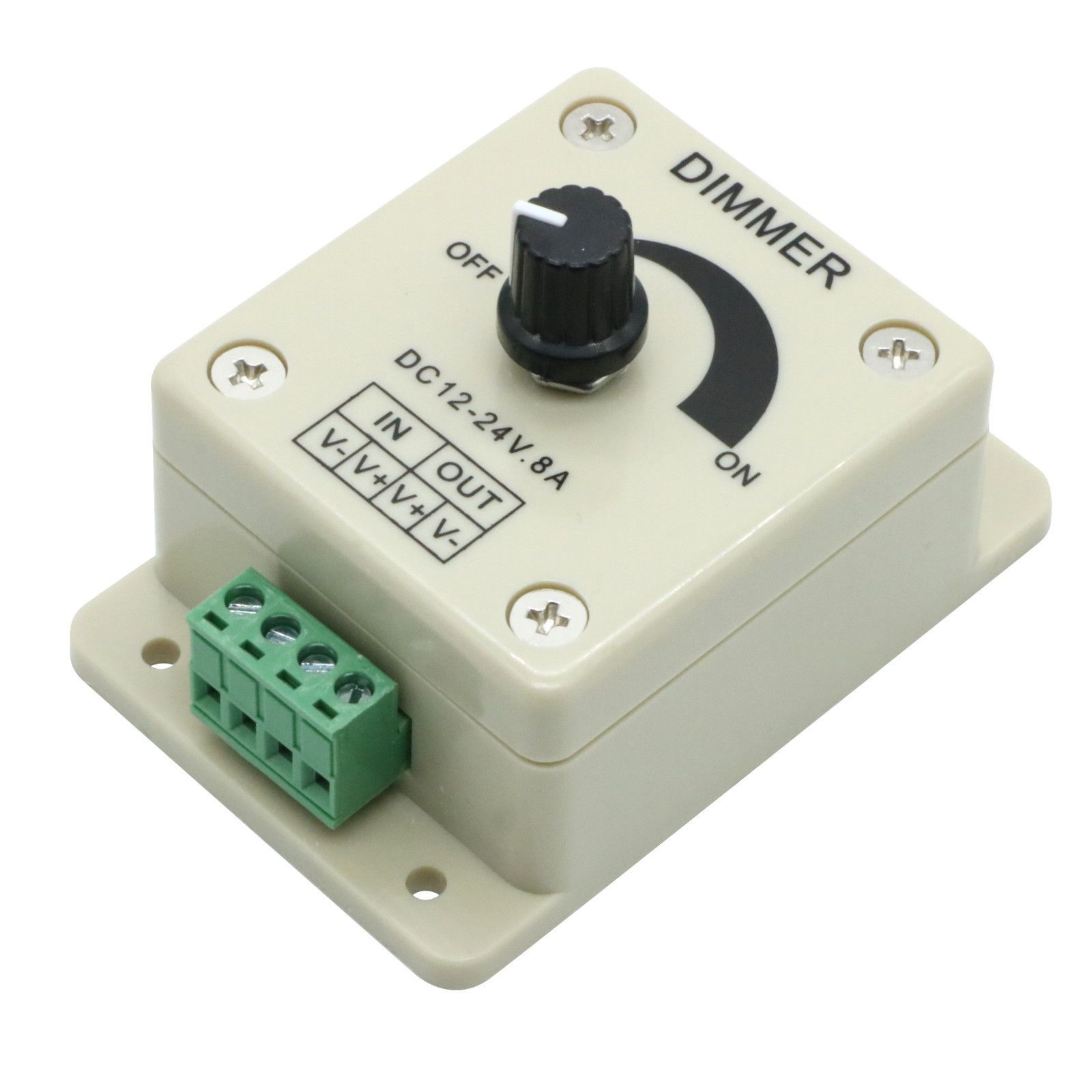 Knob Manual Dimmer Switch Controll For Single Color Led Strip Light Pwm Dc 12v 8a Rf Remote Is A Controller That Can Ebay