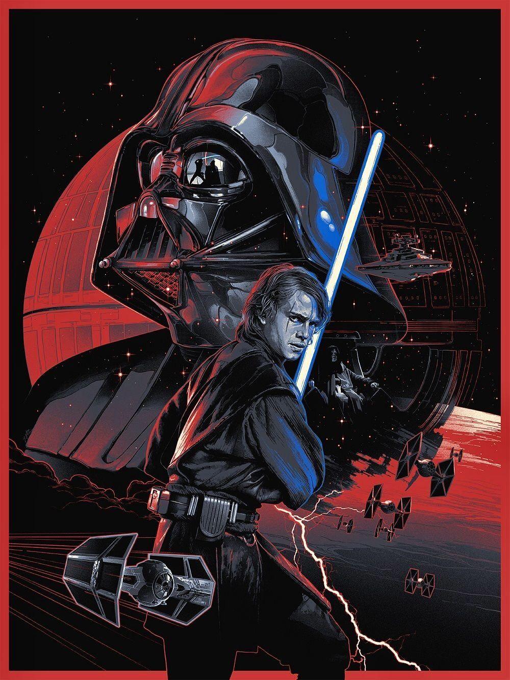 Anakin Skywalker Darth Vader Star Wars Poster Star Wars Art Star Wars Wallpaper