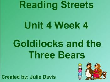 TPT Goldilocks and the Three Bears SmartBoard Companion Reading Streets Kindergarten. Check out my other Reading Street Kindergarten products ~ Julie Davis
