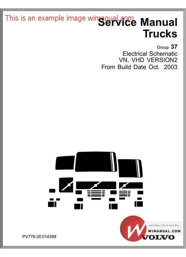 Volvo Vn Vhd Version 2 Electrical Schematic From Build