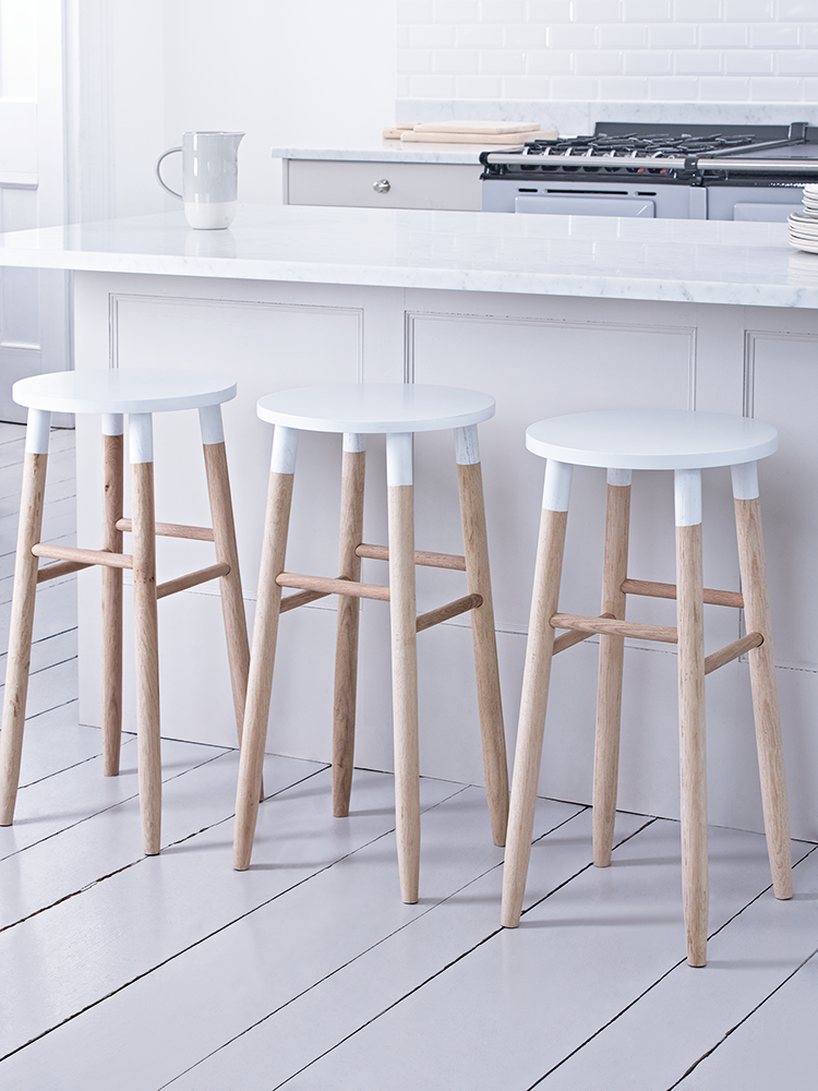 carefully handcrafted from sustainable and responsible raw oak our round topped stool features visible