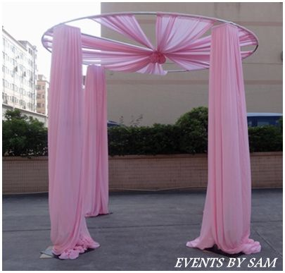 Round Pipe And Drape Weddings Backd