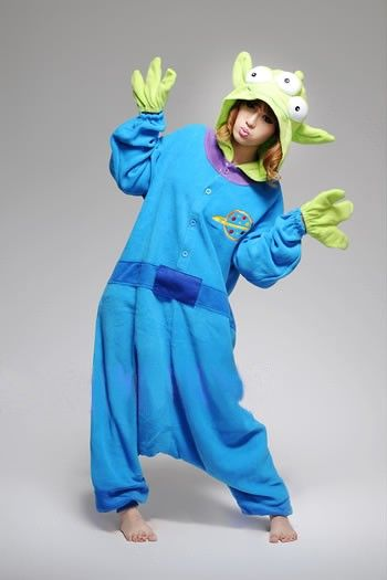 Three Eyed Monster Adult Kigurumi little green man Onesie ... 601737713