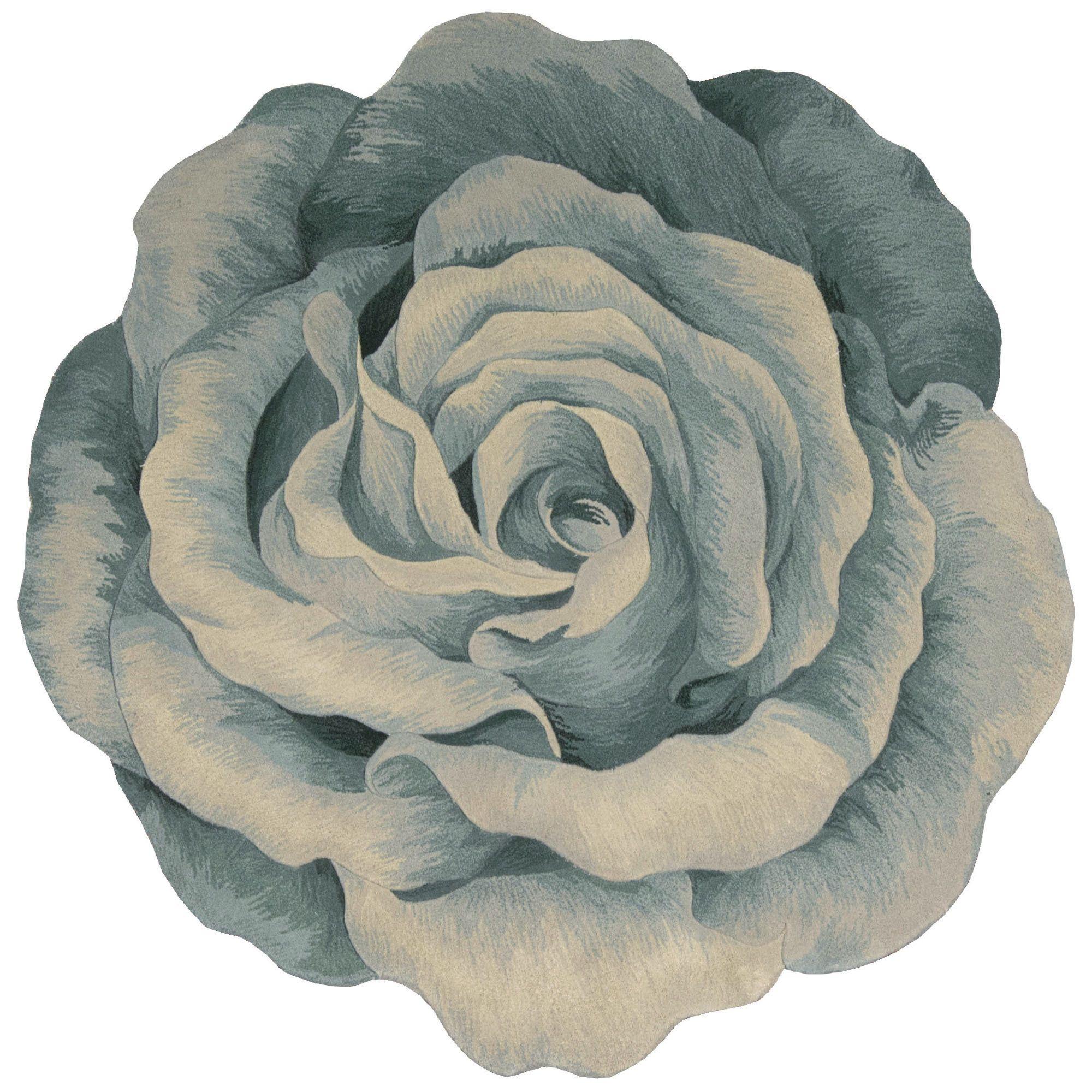 Elegant Rosemarie Flower Shaped Rug