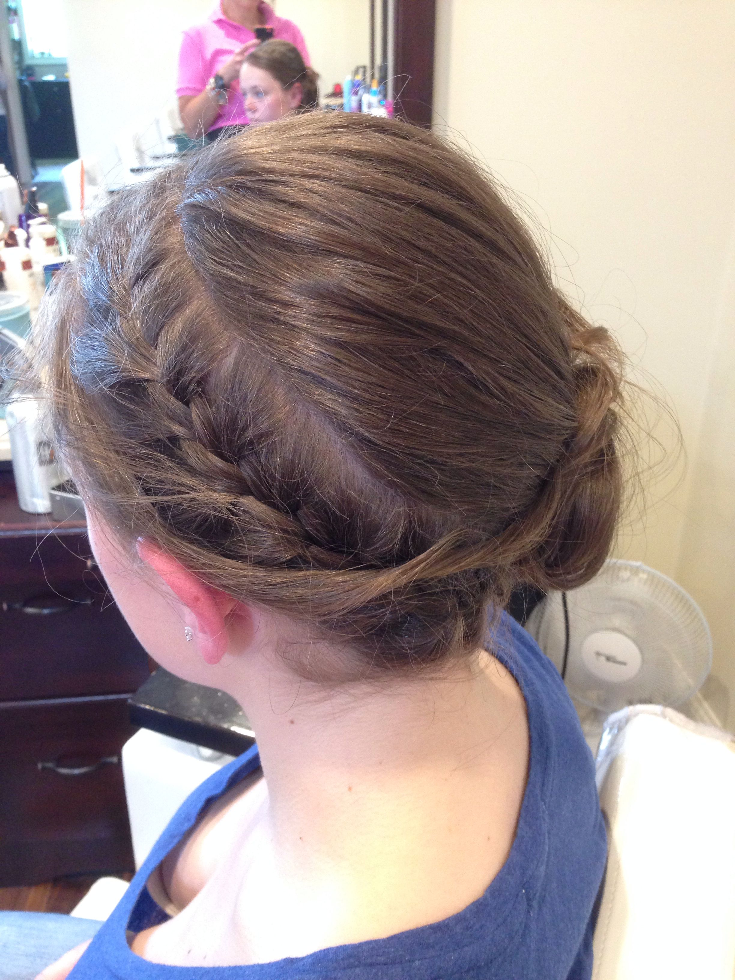 Prom up do braid and bun