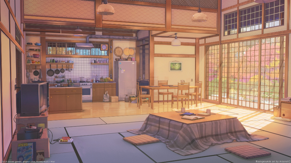 Download 3840x2160 Anime Room Kitchen Inside The Building Kotatsu Scenic Sunshine Wallpapers For Uhd Anime Background Anime Scenery Wallpaper Anime Places