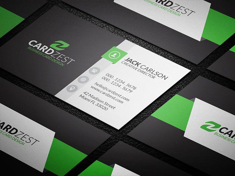 Hip and Trendy Modern Business Card Template » Cardzest | Logo ...