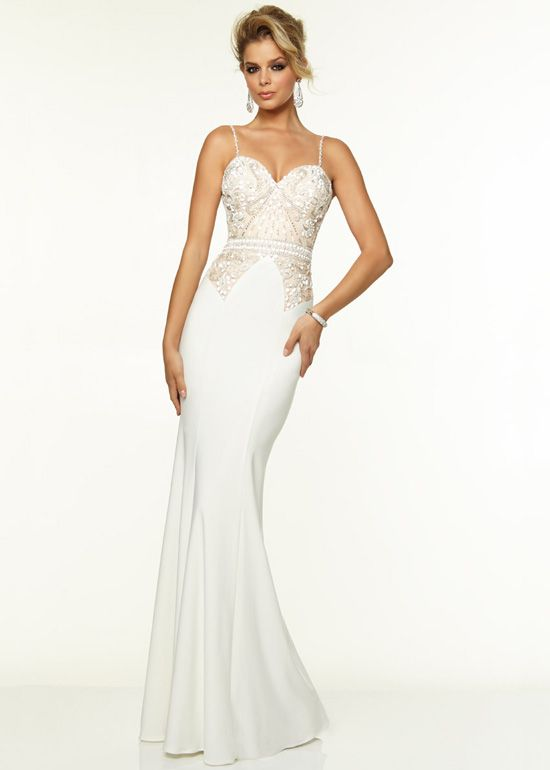 Long White Evening Dress Photo Album - Reikian