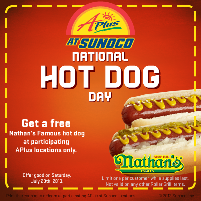 Celebrate National Hot Dog Day Except As Far As I Can See It S Not Really A Day At All It S A Coupon That E Hot Dogs Nathan S Famous Restaurant Deals Coupon
