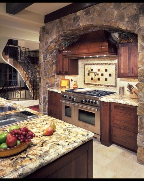 """Kitchen Design Ideas With Stone: """"Mom, When Can We Live In A Round House?"""""""
