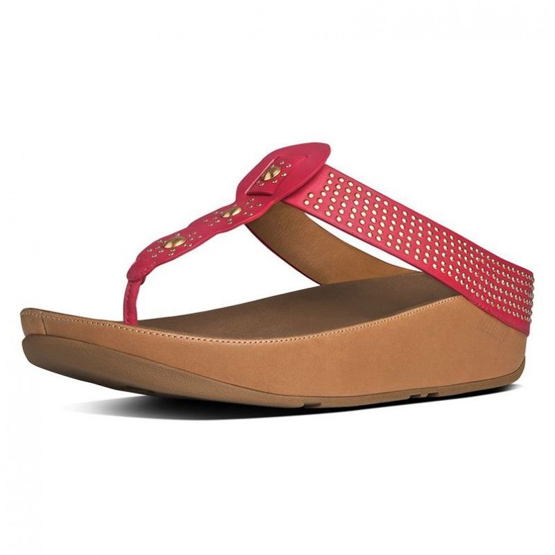 FitFlop Boho™ Leather Raspberry