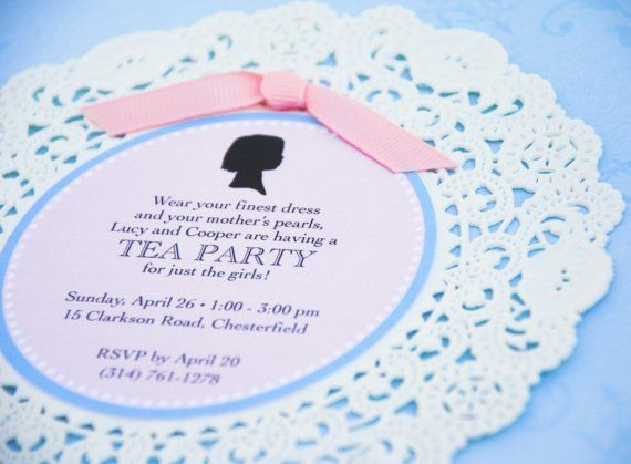 Tea Party invitation Parties Pinterest Tea party - tea party invitation