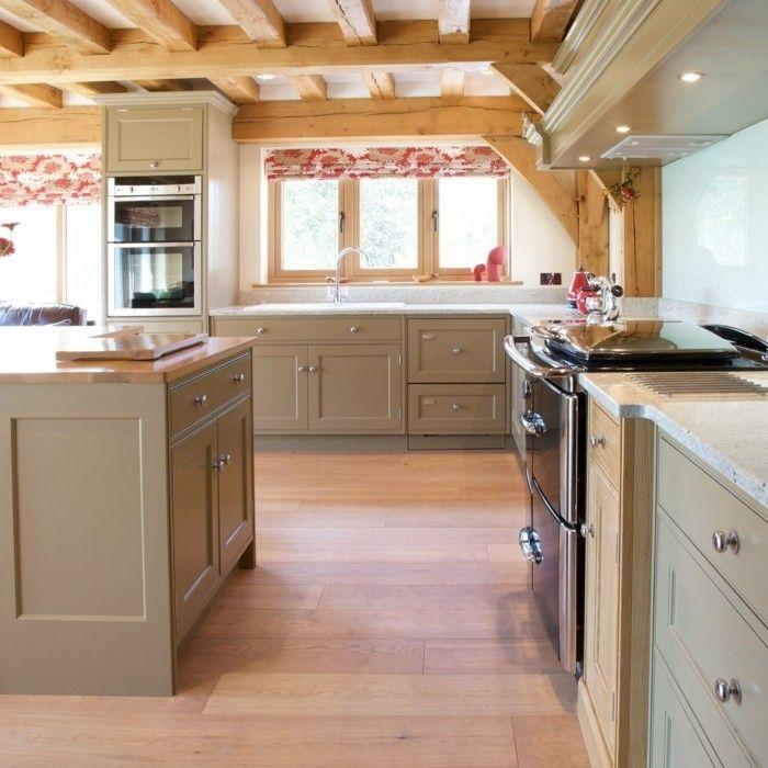 formidable cuisine taupe dans un style rustique chic meuble cuisine en bois couleur gris taupe