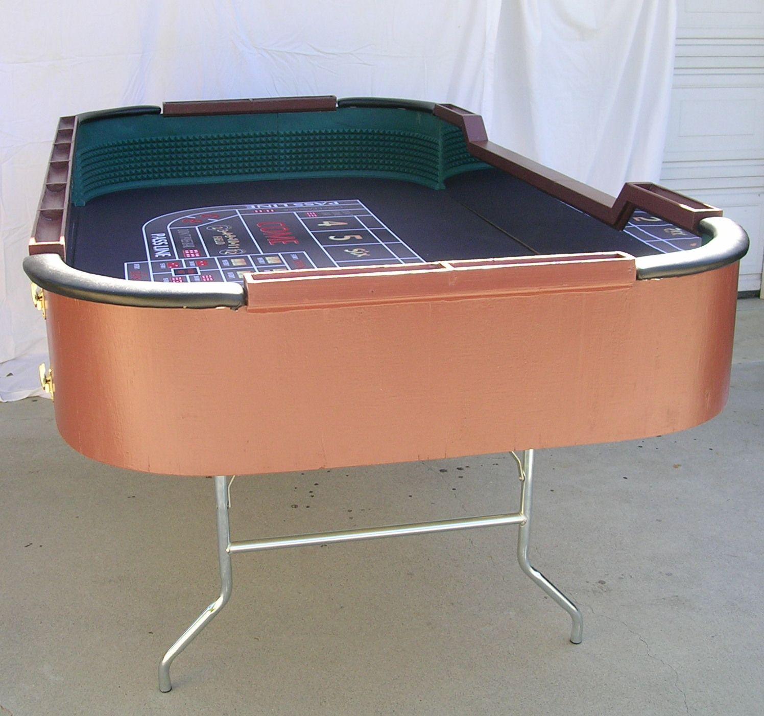 96 Custom Portable Craps Table With Folding Metal Legs