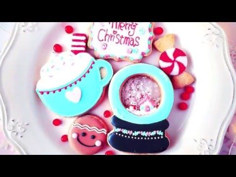 snow globe icing cookie youtube decorated christmas - Christmas Cookies Decorating Ideas Youtube