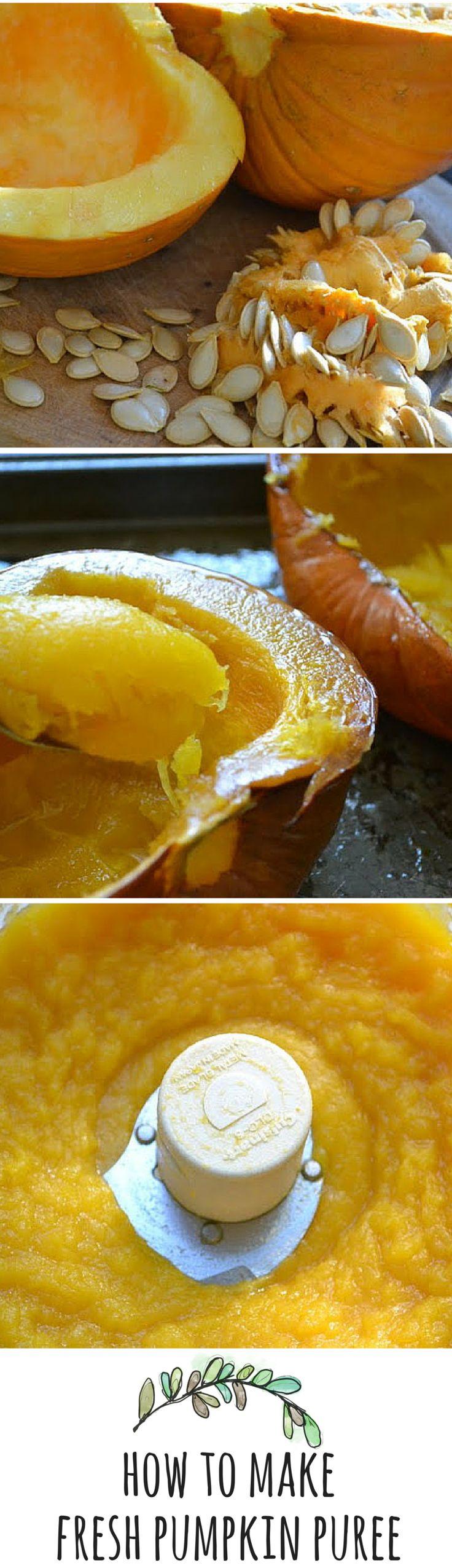 how to make fresh pumpkin puree