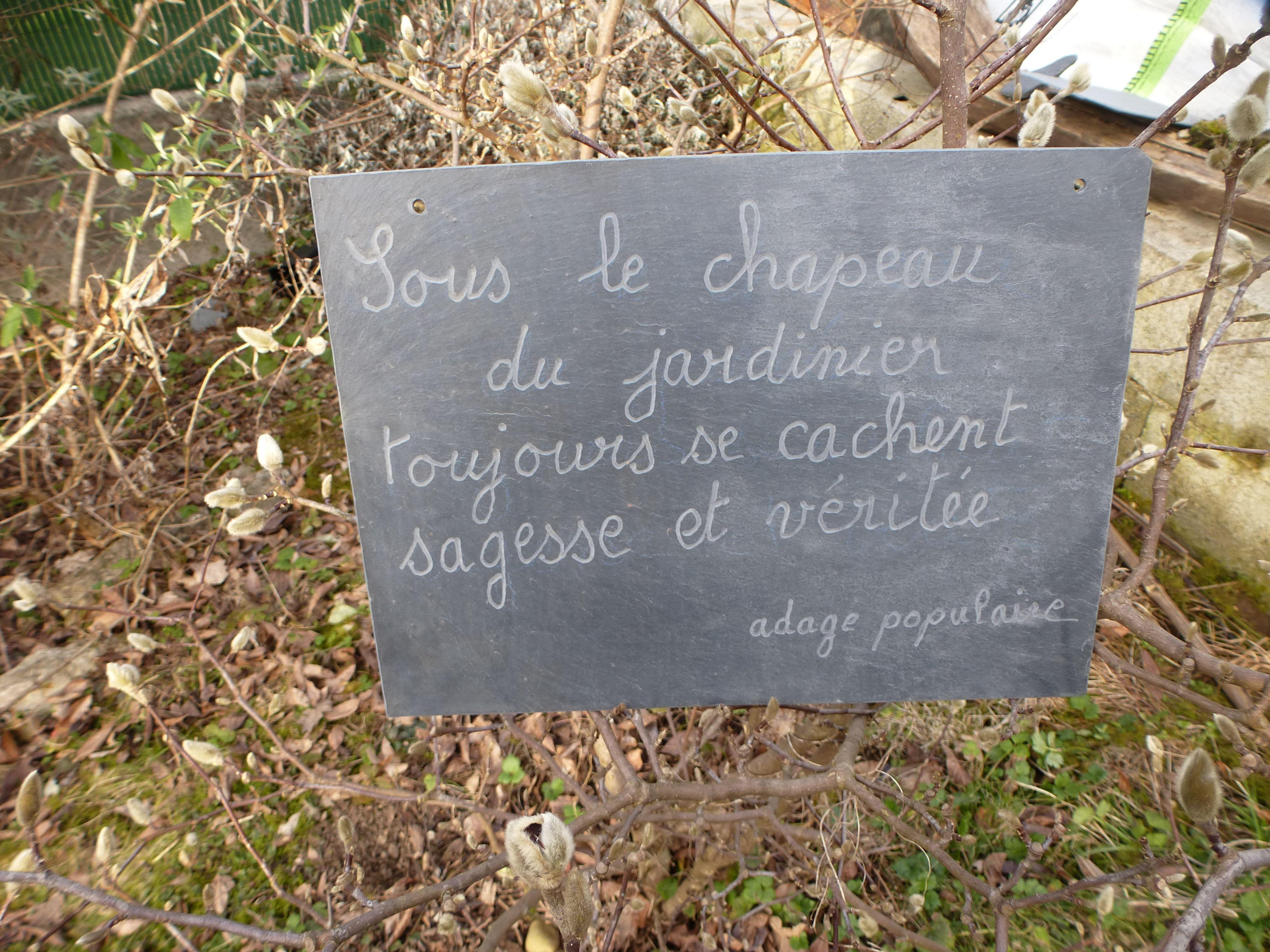 citation au jardin jardinage garden garden works et garden signs. Black Bedroom Furniture Sets. Home Design Ideas