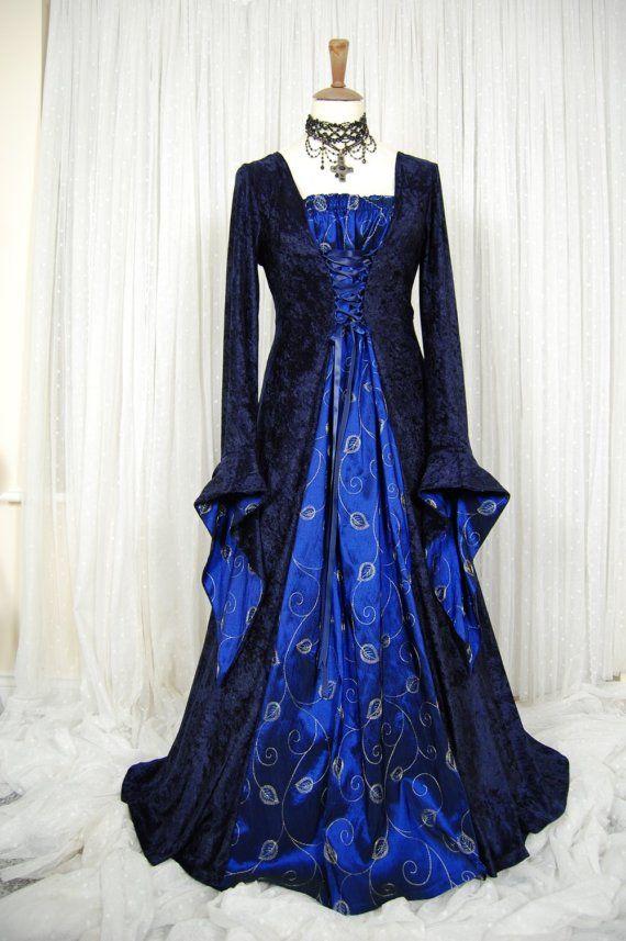 Medieval pagan wedding prom dress gown LOTR hand by RoxxOnline ...