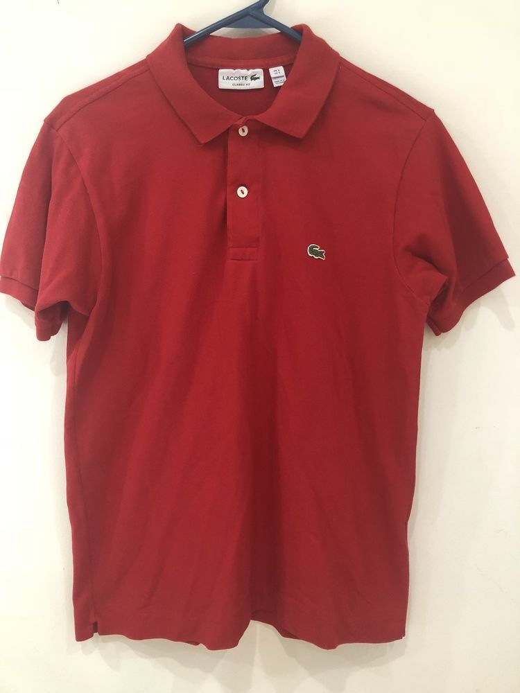 cf887d7ec56 Lacoste Red Polo US 5 FR 3  fashion  clothing  shoes  accessories   mensclothing  shirts (ebay link)