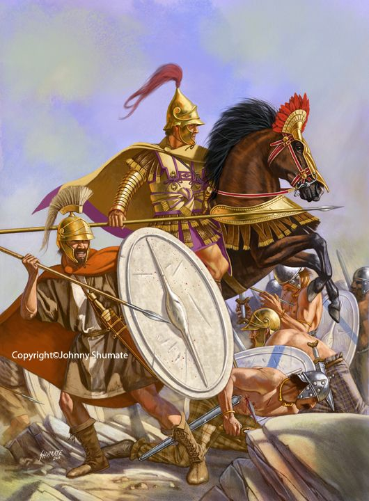 Soldati ellenistici combattono i Galati, popolazione celtica che prima provò l'invasione della Grecia e poi si spostarono in Tracia e di li si stabilirono in Frigia (Asia Minore) da allora chiamata Galazia