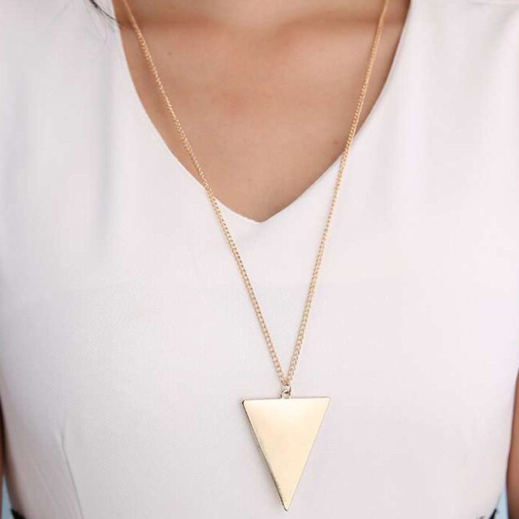 Goemetric long necklace spring into the new collection pinterest
