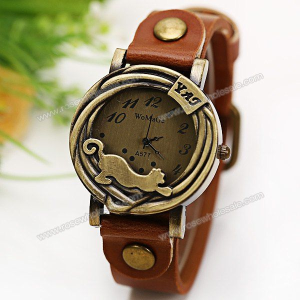 Wholesale WoMaGe Quartz Watch 12 Numbers Indicate Leather Watch Band for  Women - Brown (BROWN 14e45972d