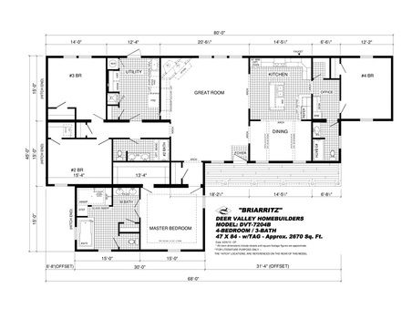 Dvt 7204b The Briarritz Modular Home Floor Plans Floor Plans Mobile Home Floor Plans