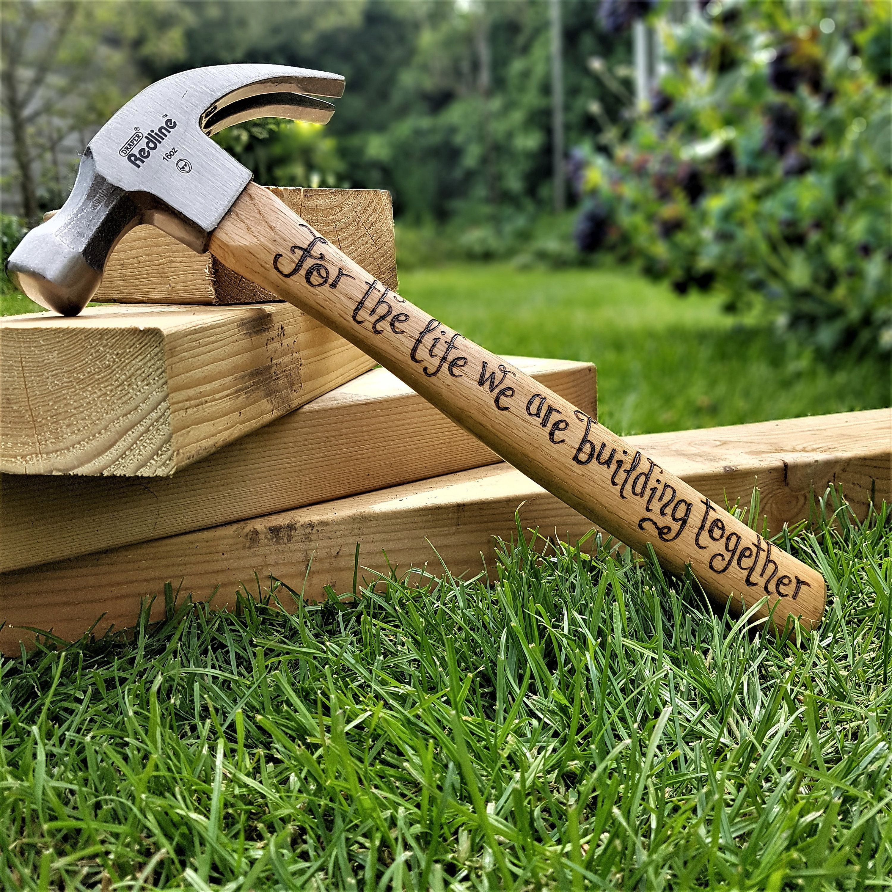 Personalised Hammer, 5th Anniversary, Gift for Husband