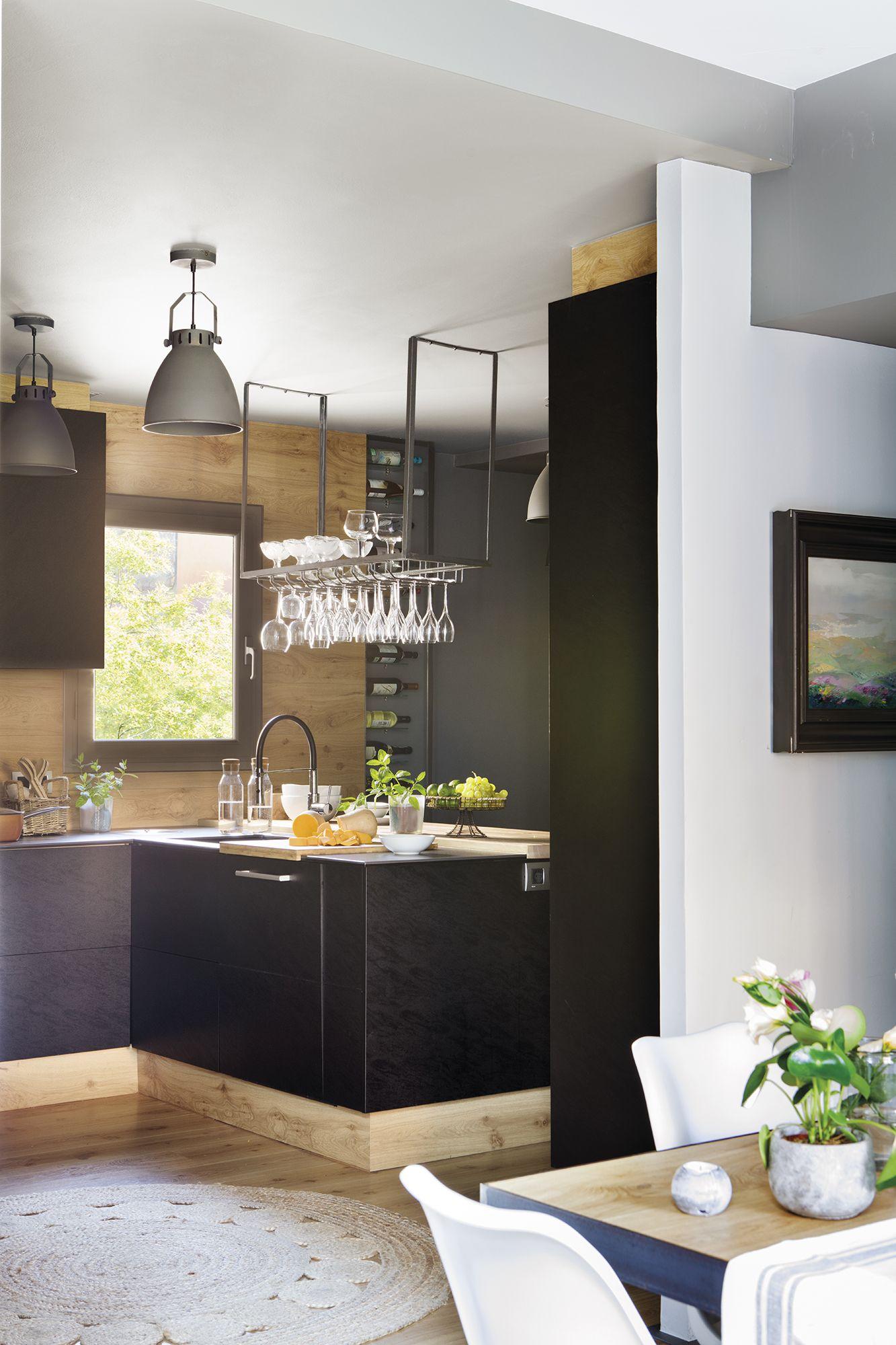 cocina industrial negra | Decor | Pinterest | Cocinas, Cocinas ...