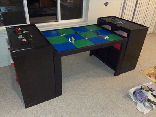 How To Build A Large Lego Table Lego Table Lego Room Lego Table With Storage