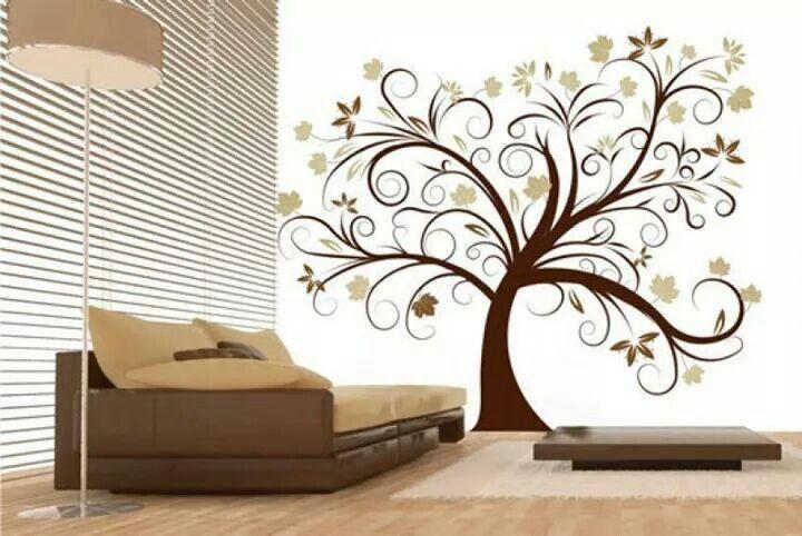 Diseños para paredes home Pinterest